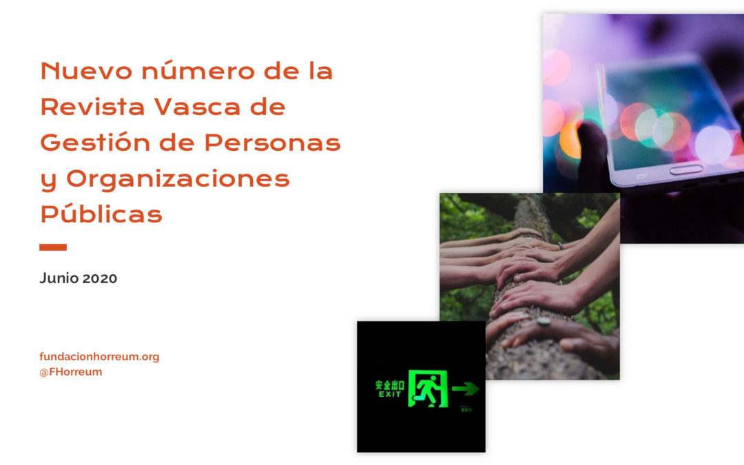 Nuevo número de la Revista Vasca de Gestión de Personas y Organizaciones Públicas – IVAP