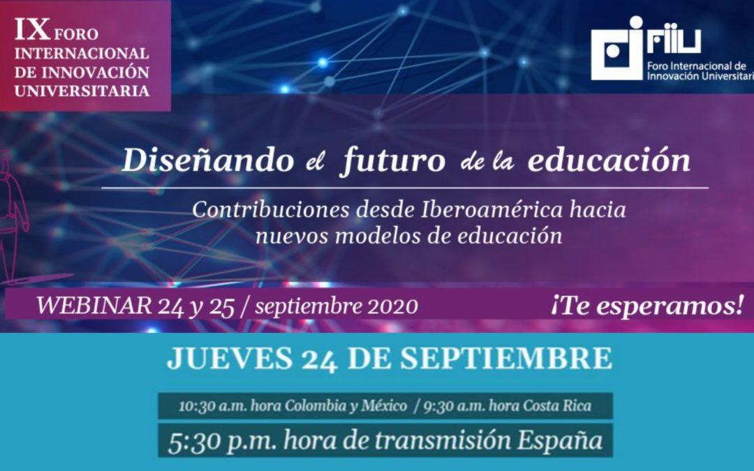 Webinar sobre innovación educativa: «Diseñando el futuro de la educación»
